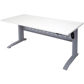 Swift Electric Height Adjustable Sit / Stand Desk Silver Legs