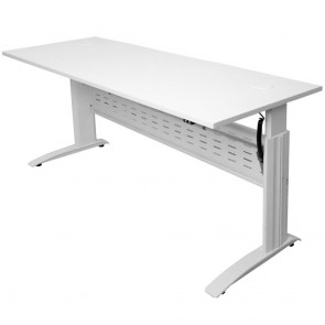 Swift Electric Height Adjustable Sit / Stand Desk White Legs