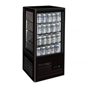 TCBD78B FED Four-Sided Countertop Display Fridge Black TCBD78B