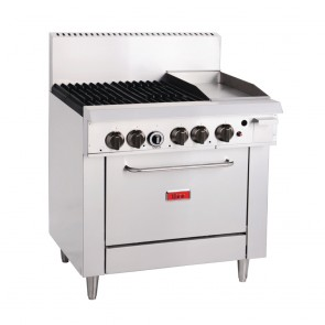 Thor 4 Burner Natural Gas Oven and 12 Inch Grill GH102-N