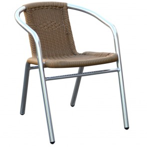 Tora Aluminium Wicker Outdoor Arm Chair