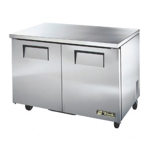 True Undercounter Freezer 2 doors Stainless Steel