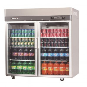 Austune Turbo Air Stainless Steel Upright Display Fridge 2 Doors KR45-2G