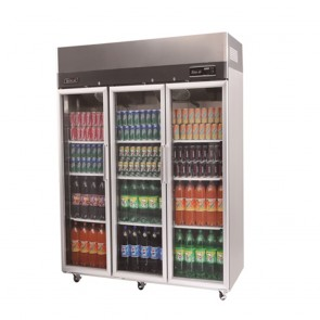Austune Turbo Air Stainless Steel Upright Display Fridge 3 Doors KR65-3G