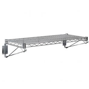 U202 Vogue Wire Wall Shelves incl end brackets - 1220x360mm