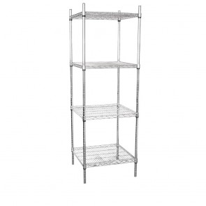 U884 Vogue Tower Display Unit 4 Shelves - 1830(H)x610(W)x610(D)mm