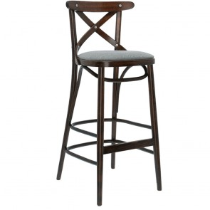 Upholstered Cross Back Barstool BST-8810/2