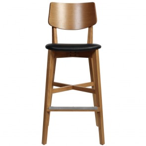 Vanja Bar Stool Faux Leather