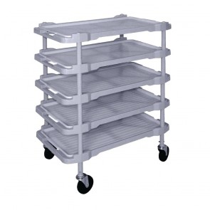 Vogue Polypropylene 5 Tier Trolley