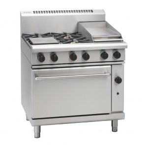 Waldorf by Moffat 4 Burner Natural Gas Cooktop and Griddle RN8613G