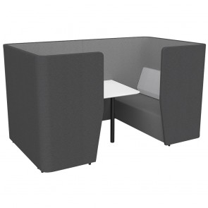 Wave Acoustic Office Meeting Pod with Table