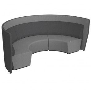 Wave Modular Soft Seating Acoustic Lounge Low Back
