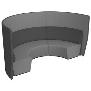 Wave Modular Soft Seating Acoustic Lounge Mid Back