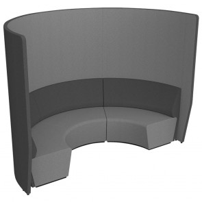 Wave Round Collaboration Seating High Wall