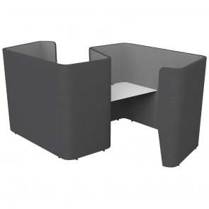 Wave Swell Double Acoustic Work Pod with Desk