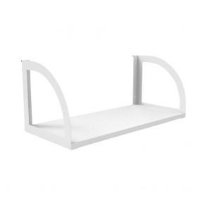 White Workstation Shelf White Bracket