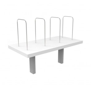 White Workstation Shelf White Mount