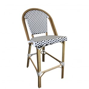 Paris Wicker Outdoor Bar Stool