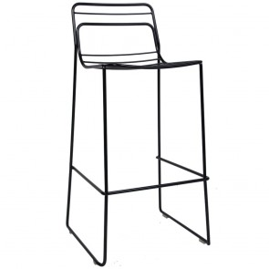 Wire Bar Stool Outdoor Steel Stackable