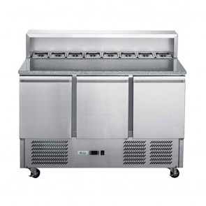 XGNS900E FED-X Two Door Salad Prep Fridge With Marble Top - XGNS900E