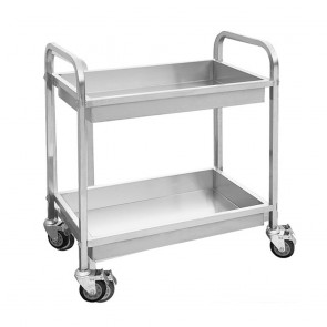 YC-102D FED Stainless Steel trolley With 2 shelves SC-7-2100L-H