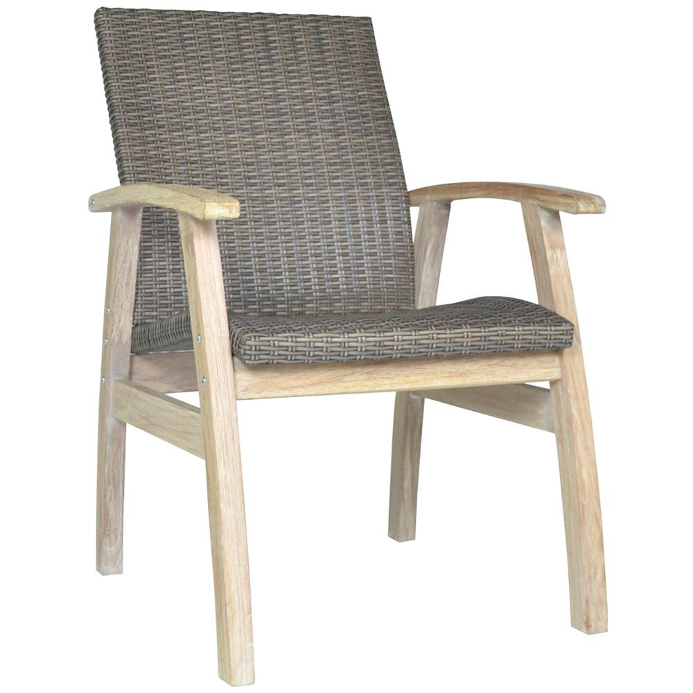 Flinders Teak and Wicker Outdoor Chair